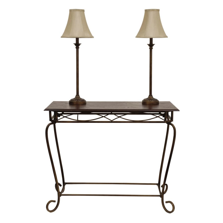 Style Selections 3 Piece 29 1 4 Wood Bronze Sofa Table