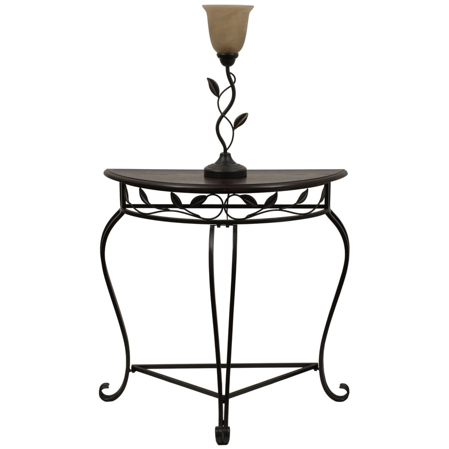 Style Selections 49.75-in Bronze Traditional Furniture Lamp with Glass Shade