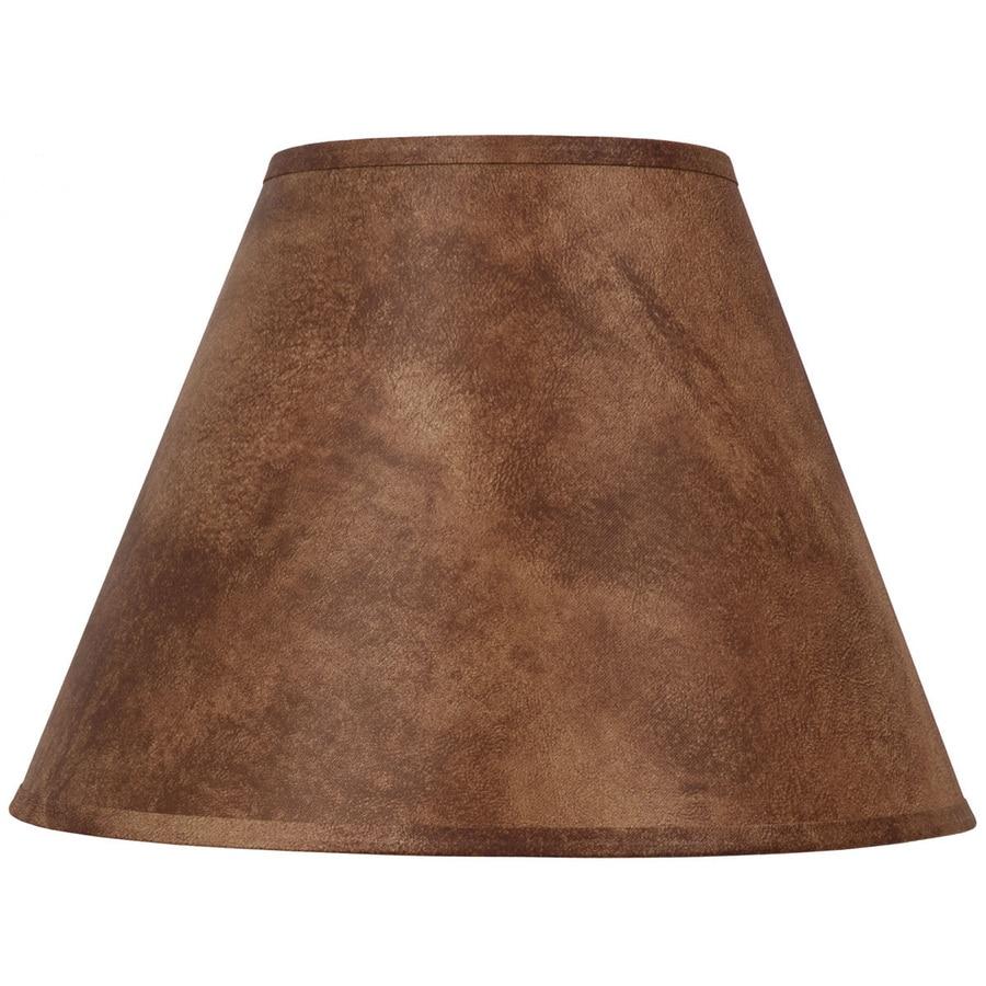 Portfolio 11-in x 15-in Rust Cone Lamp Shade
