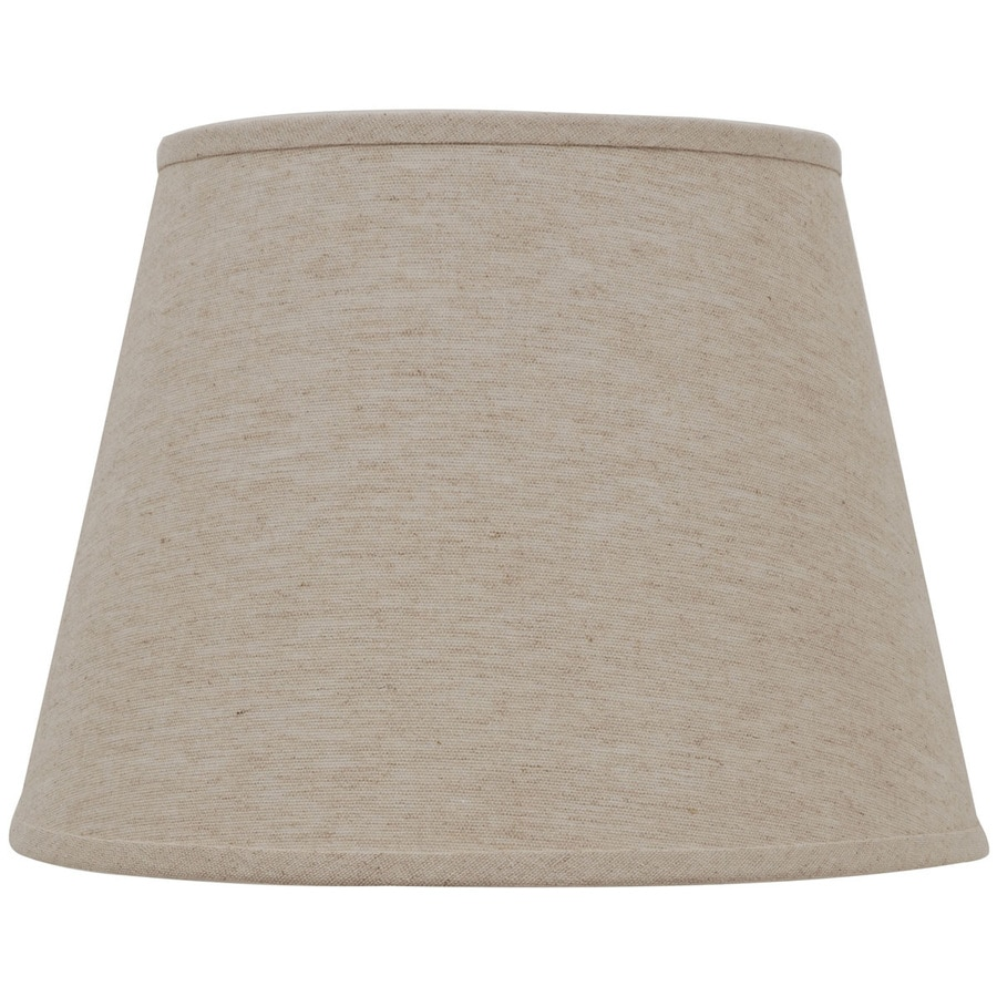 Allen Roth 11 In X 15 In Natural Linen Fabric Drum Lamp