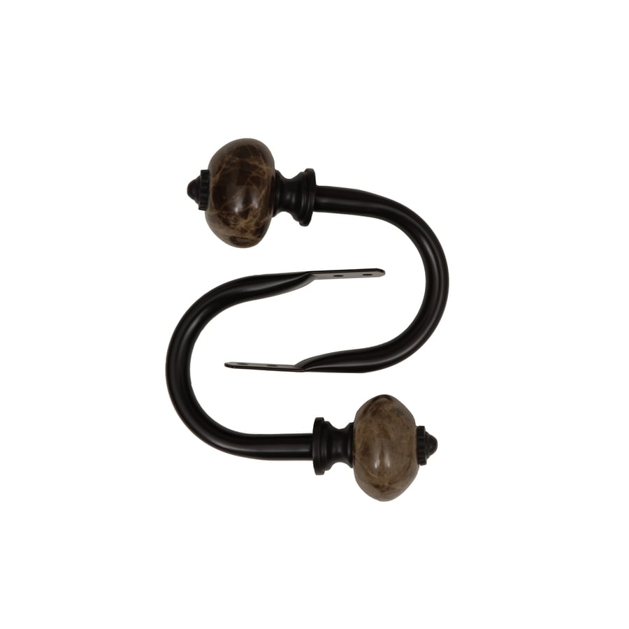 allen + roth 2-Pack Aged Bronze Curtain Holdbacks