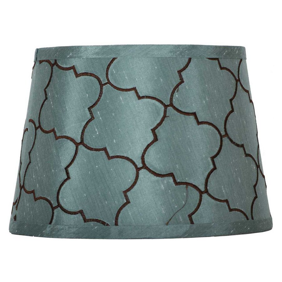 Shop portfolio 7 in x 10 in blue drum lamp shade at lowes portfolio 7 in x 10 in blue drum lamp shade aloadofball Gallery
