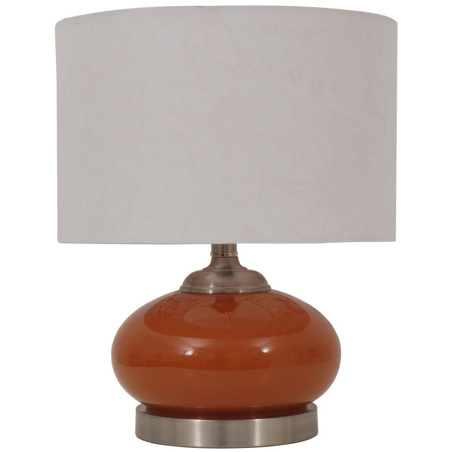 Jimco 15-1/2-in Orange Indoor Table Lamp with Fabric Shade
