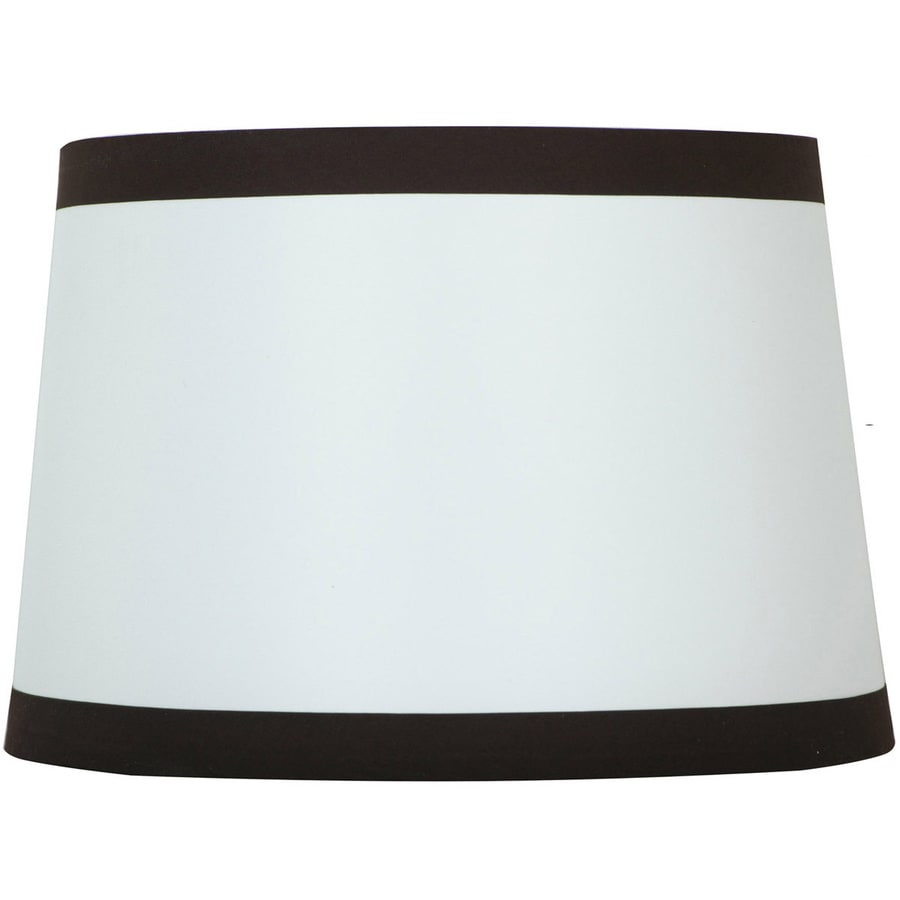 Shop style selections 9 in x 13 in off white with brown trim drum style selections 9 in x 13 in off white with brown trim drum lamp aloadofball Choice Image