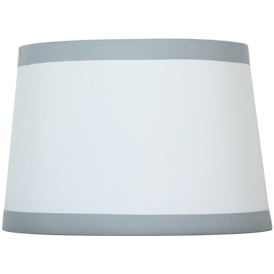 Shop style selections 9 in x 13 in off white with silver trim drum style selections 9 in x 13 in off white with silver trim drum lamp mozeypictures