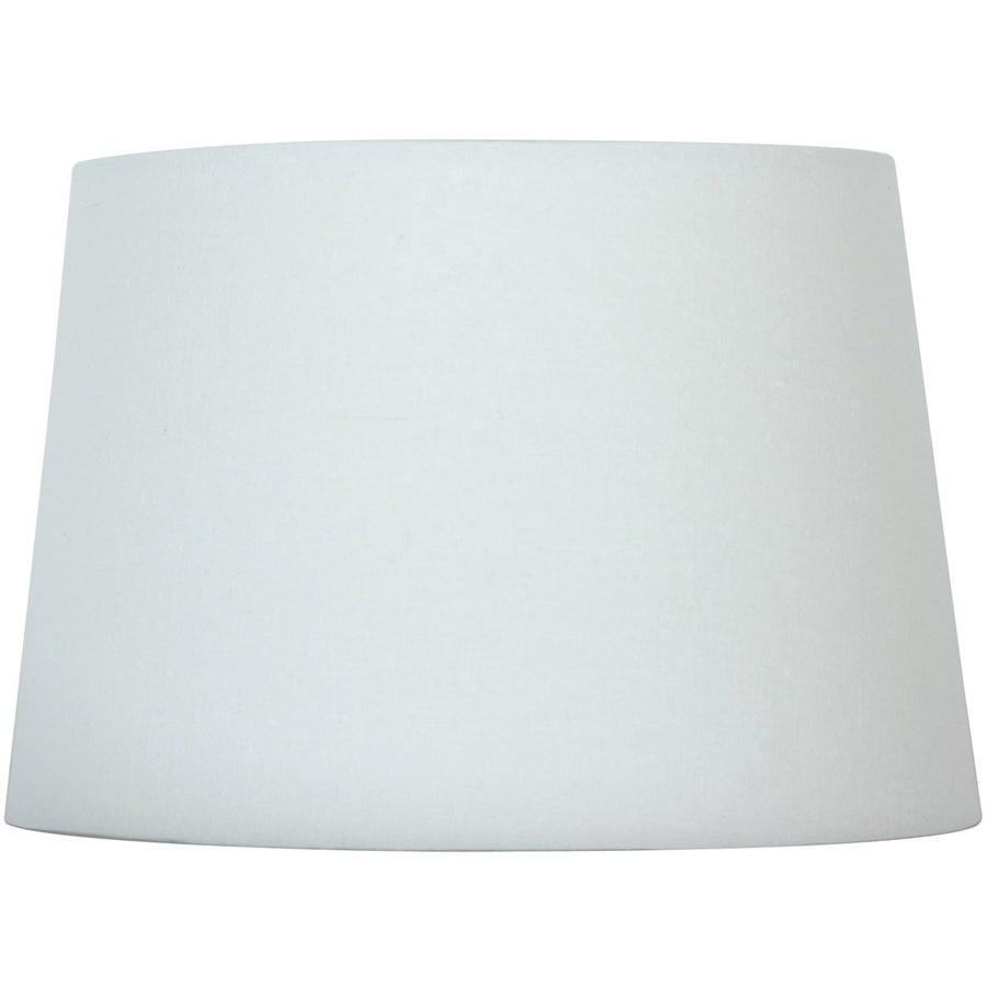Style Selections 9-in x 13-in White Fabric Drum Lamp Shade