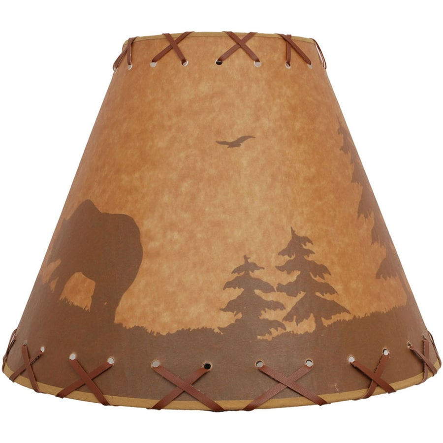 Portfolio 11-in x 14-in Brown Paper Bell Lamp Shade