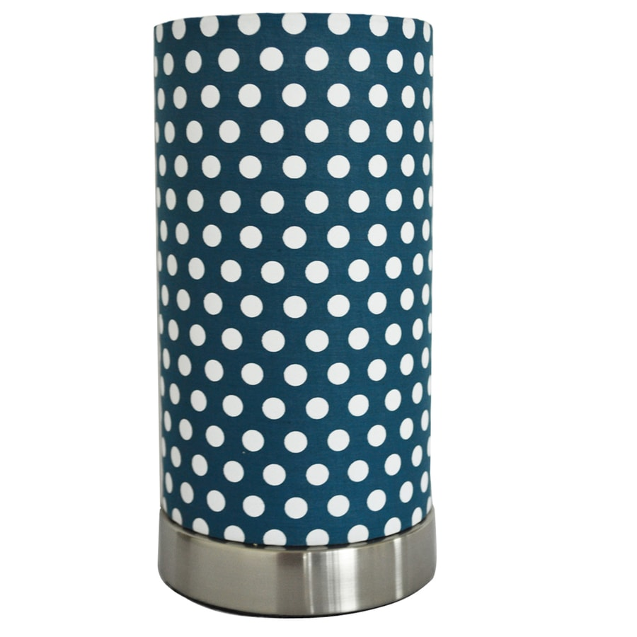 9-in Brushed Steel Desk Lamp with Fabric Shade