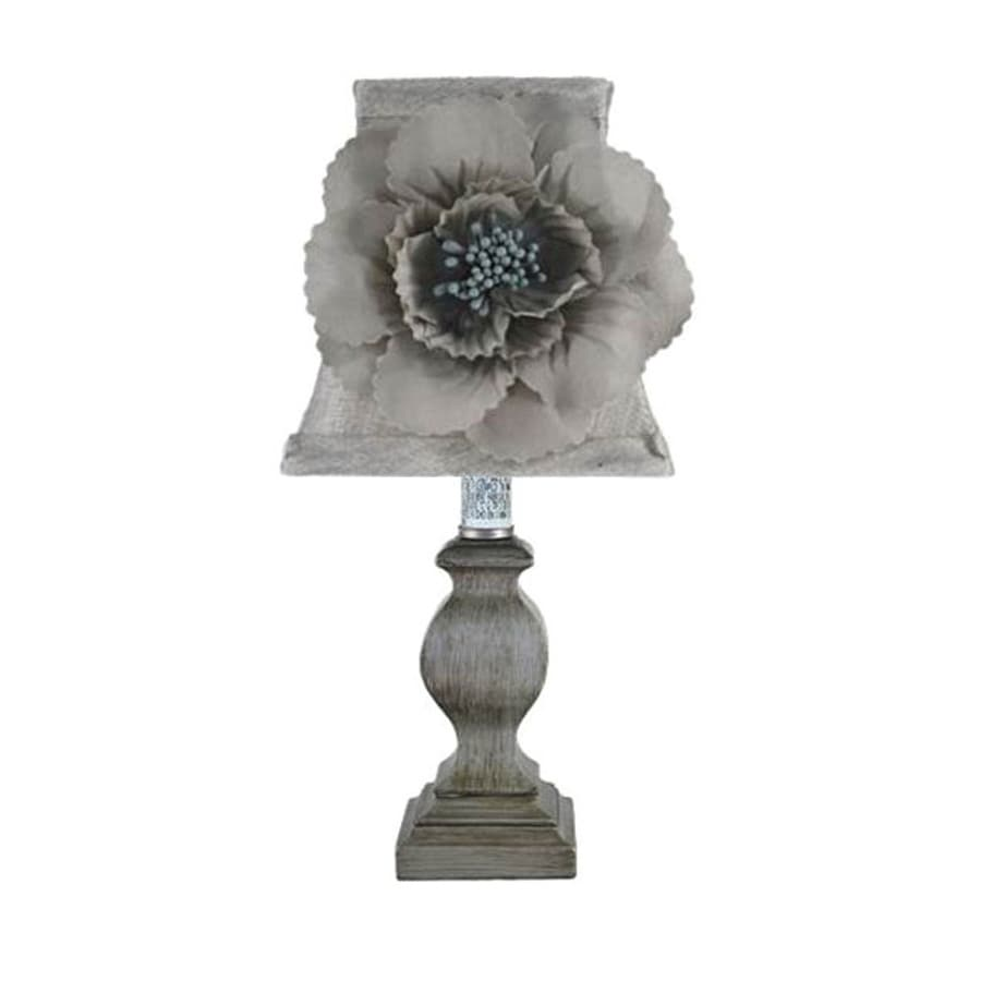 Jimco 11-in Antique Pewter Indoor Table Lamp with Fabric Shade