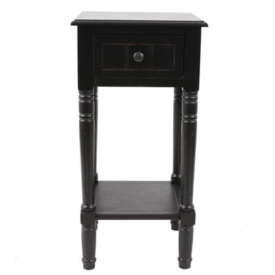 Decor Therapy Distressed Black Composite End Table At Lowes
