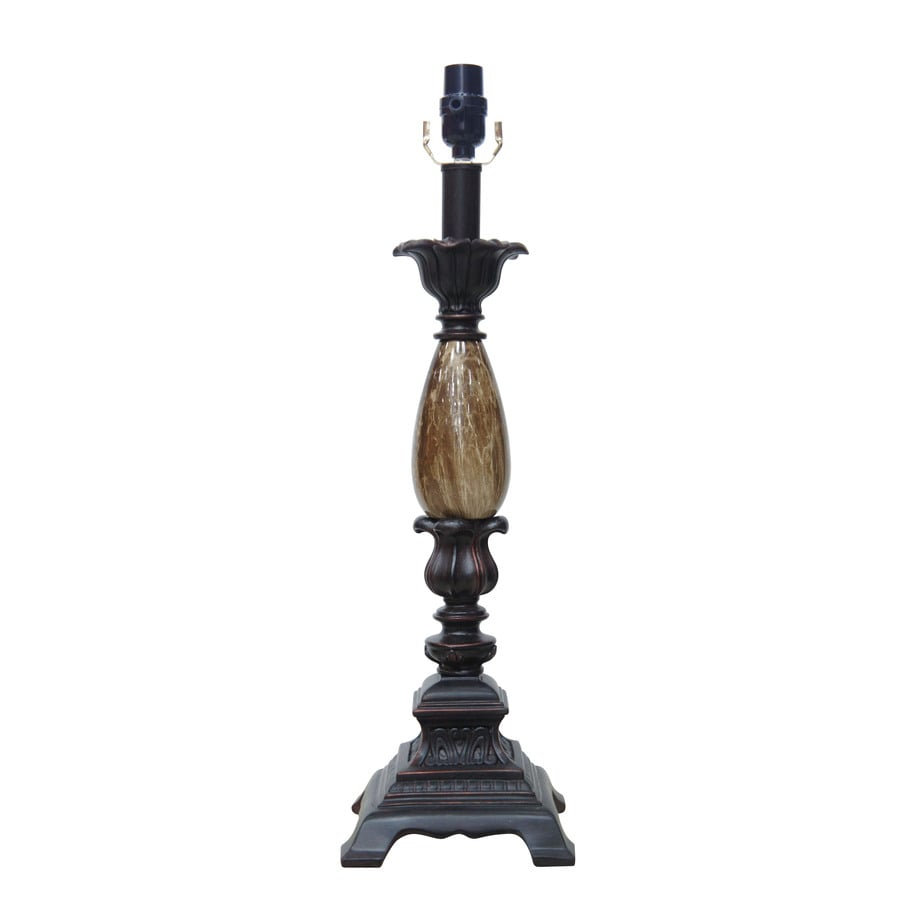 allen + roth 20-in 3-Way Switch Bronze Resin Lamp Base