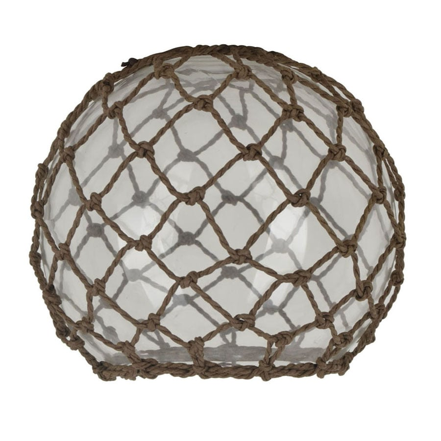 shop 6 25 in h 7 5 in w rope clear glass coastal globe pendant light