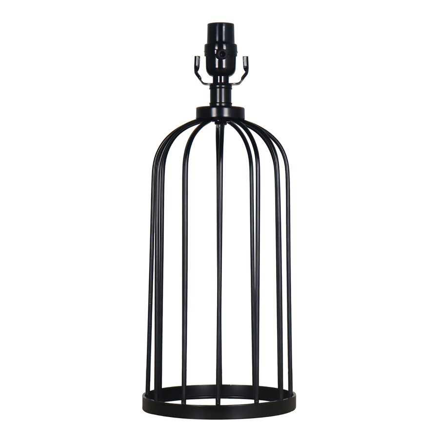 allen + roth 18.25-in Black Electrical Outlet Metal Lamp Base