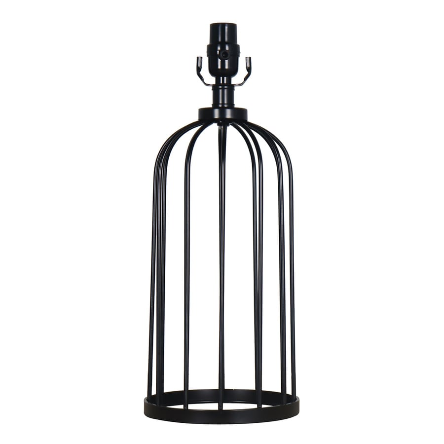 Attractive Allen + Roth 18.25 In Black Electrical Outlet Metal Lamp Base