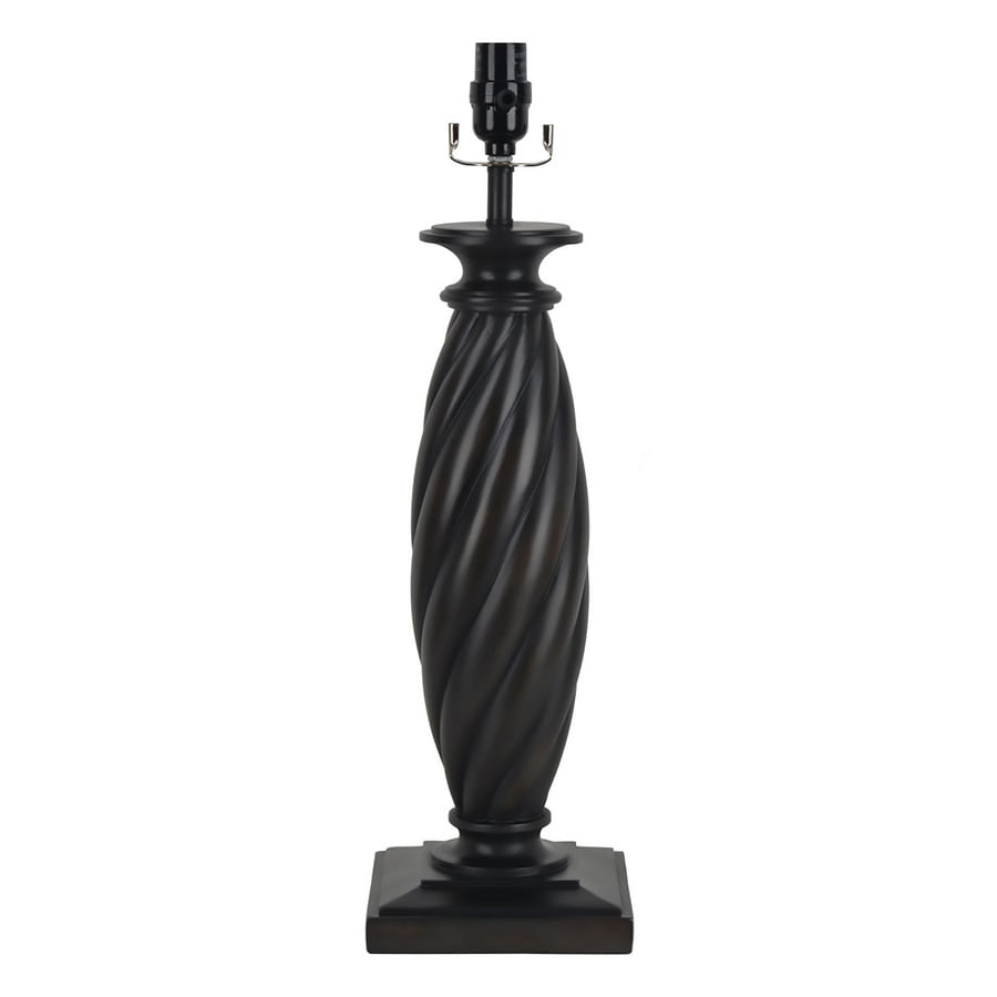 allen + roth 22-in 3-Way Switch Black Resin Lamp Base