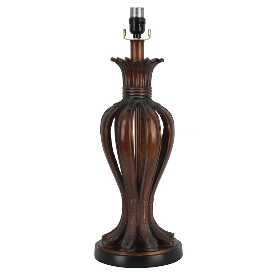 allen + roth 23-in Bronze Electrical Outlet 3-way  Resin Lamp Base