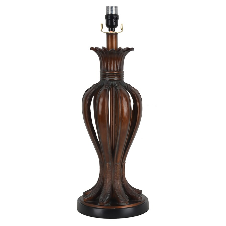 allen + roth 23-in Bronze Electrical Outlet Resin Lamp Base