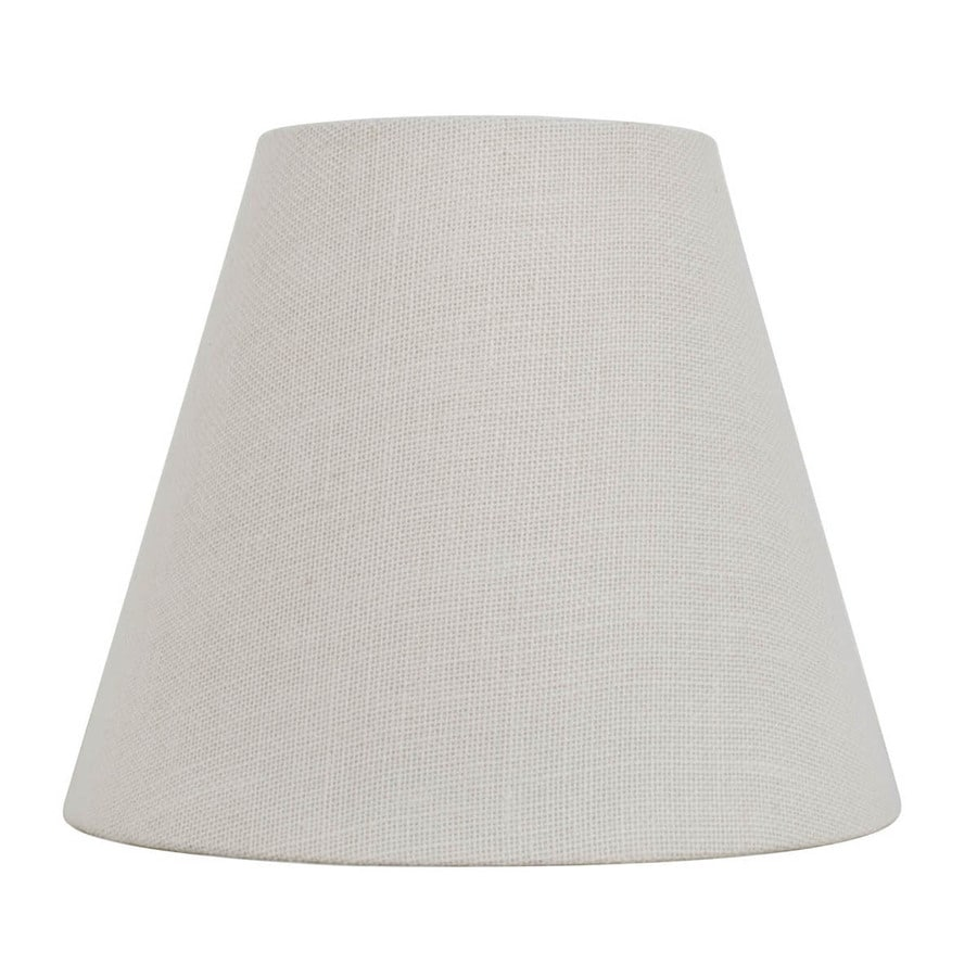 allen + roth 11-in x 13-in White Burlap Fabric Cone Lamp Shade