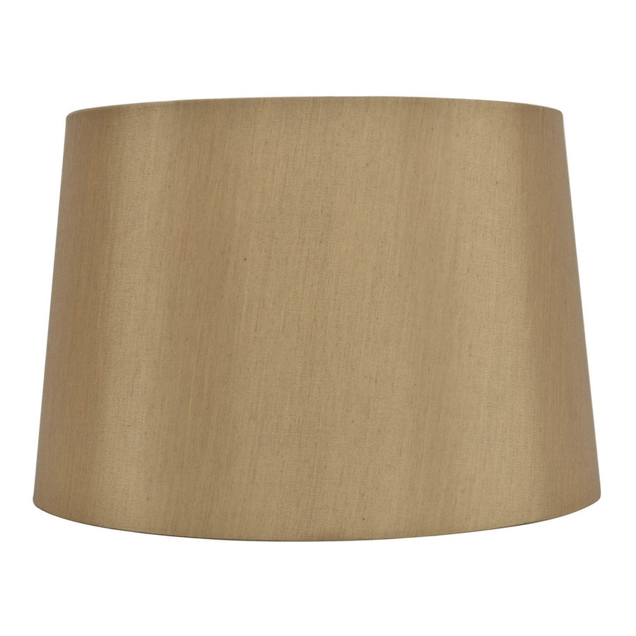 allen + roth 10-in x 15-in Gold Fabric Drum Lamp Shade