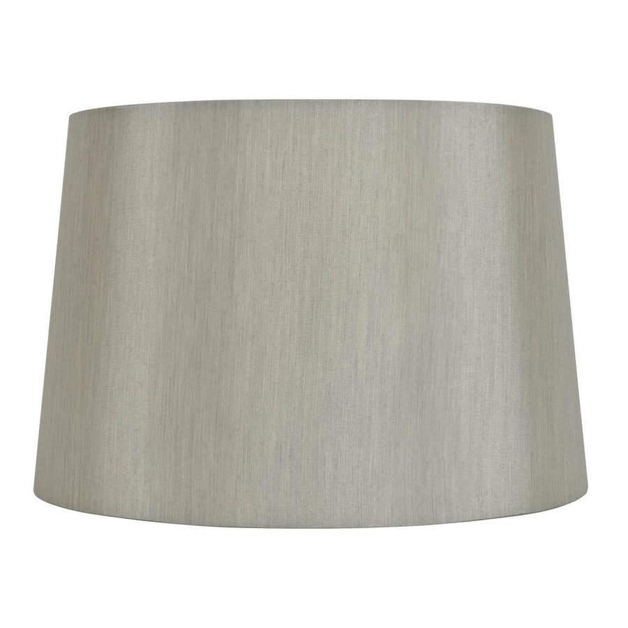 Allen Roth 9 In X 13 Gray Fabric Drum Lamp Shade