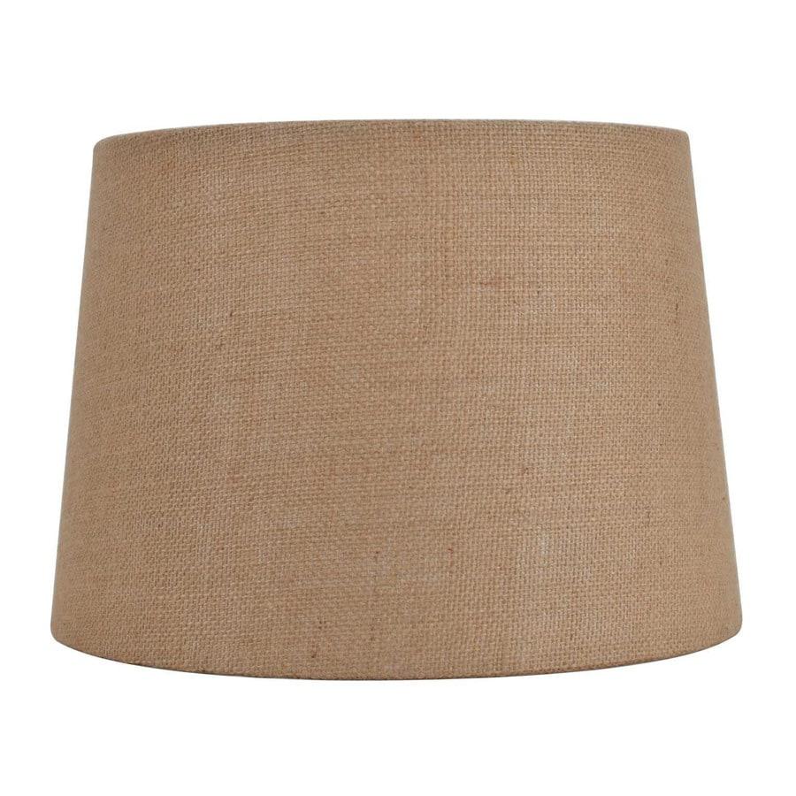 allen + roth 9-in x 13-in Tan Burlap Fabric Drum Lamp Shade