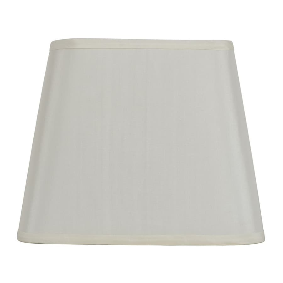 allen + roth 10-in x 12-in Off White Fabric Square Lamp Shade