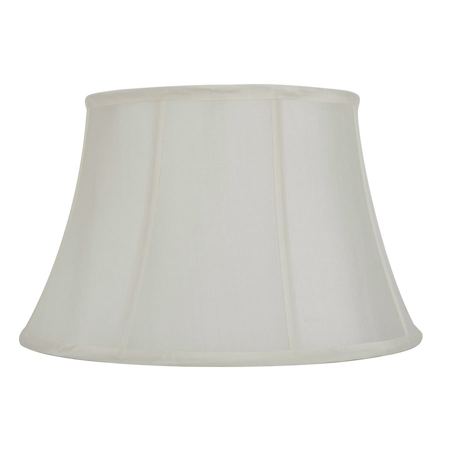 allen + roth 10-in x 16-in Off White Fabric Bell Lamp Shade