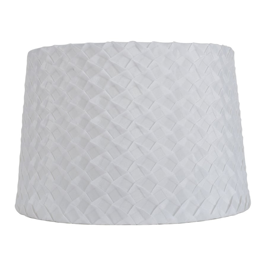 allen + roth 10-in x 15-in Off White Fabric Drum Lamp Shade