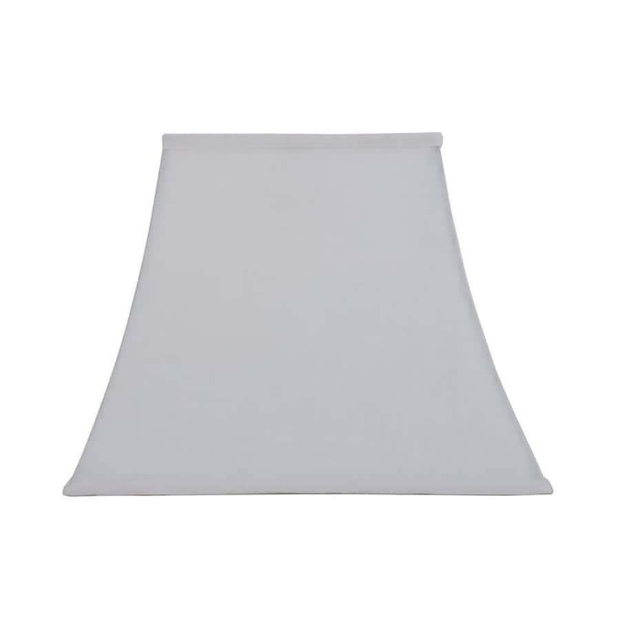 allen + roth 12-in x 15-in White Linen Fabric Square Lamp Shade