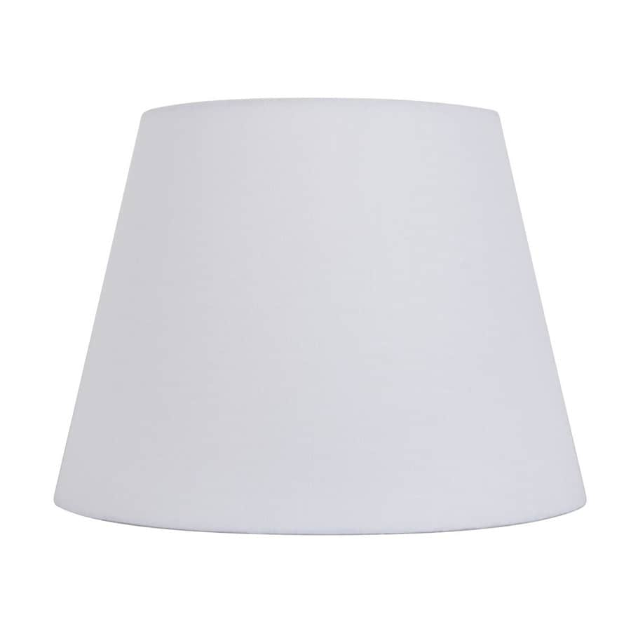 allen + roth 7-in x 10-in White Fabric Drum Lamp Shade