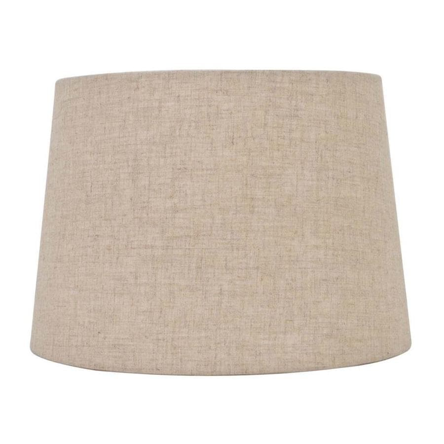 allen + roth 7-in x 10-in Tan Linen Fabric Drum Lamp Shade