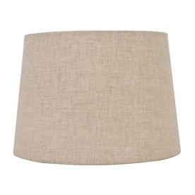 Allen Roth 7 In X 10 Tan Linen Fabric Drum Lamp Shade