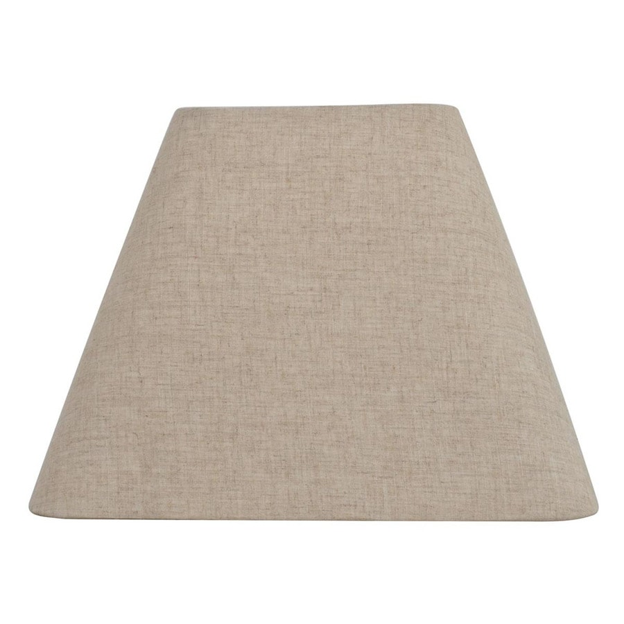 allen + roth 12-in x 15-in Tan Linen Fabric Square Lamp Shade