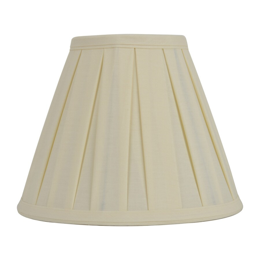 allen + roth 8-in x 10-in Cream Fabric Bell Lamp Shade