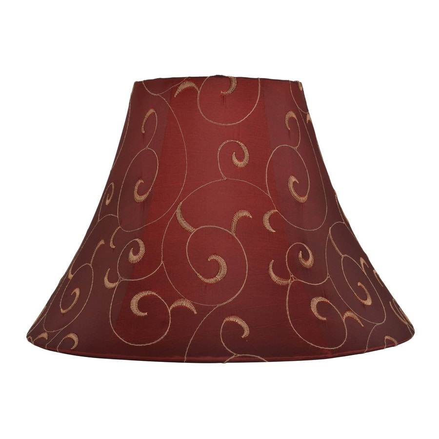 allen + roth 10-in x 14-in Red and Gold Fabric Bell Lamp