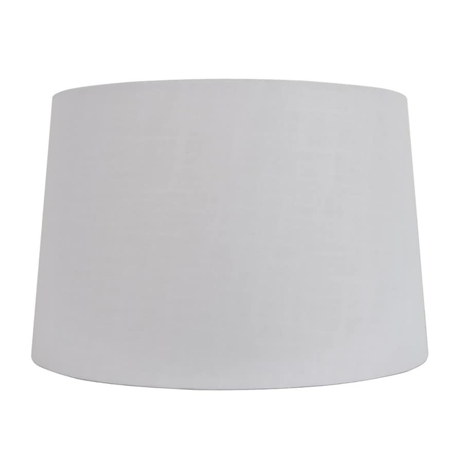 Allen Roth 11 In X 17 White Linen Fabric Drum Lamp Shade