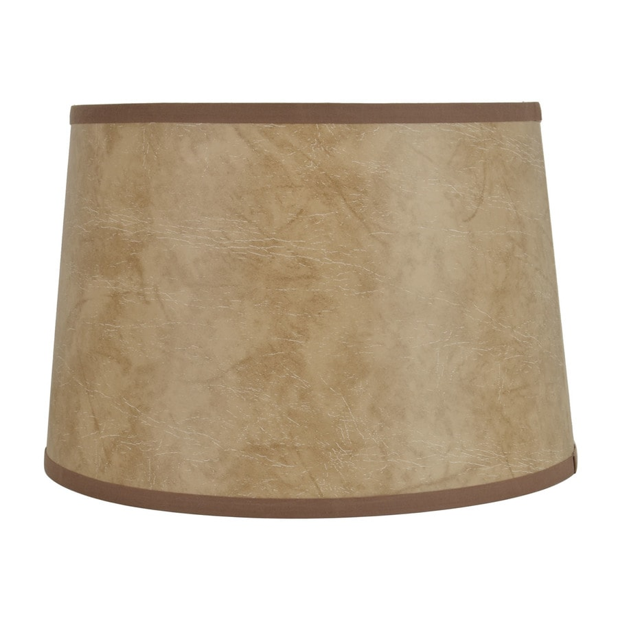 Shop allen roth 10 in x 15 in faux leather fabric drum lamp shade allen roth 10 in x 15 in faux leather fabric drum lamp shade aloadofball Choice Image