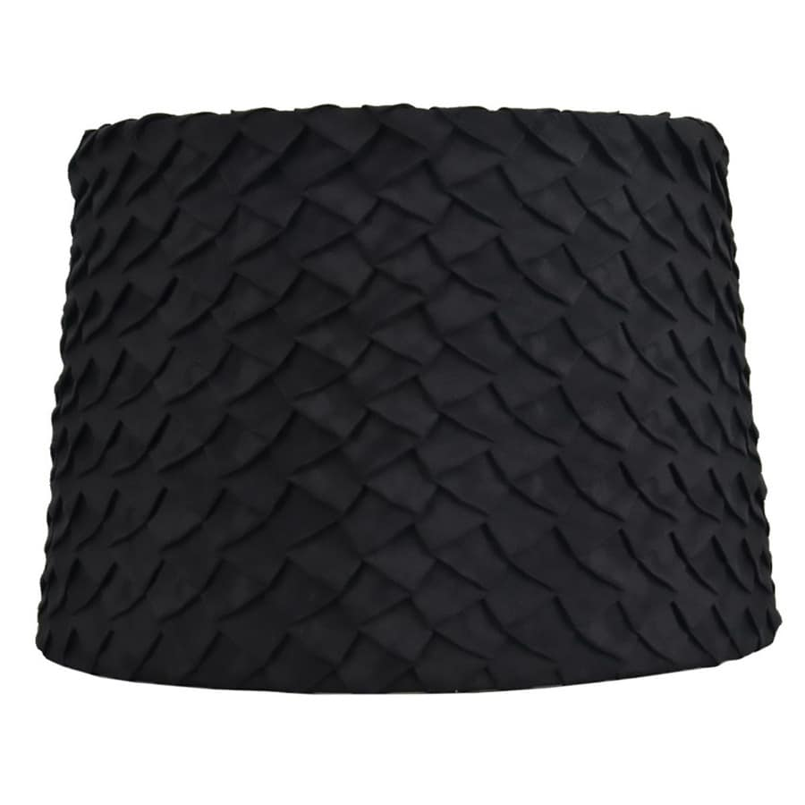 allen + roth 9-in x 13-in Black Fabric Drum Lamp Shade