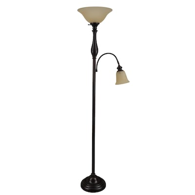 cheaper c33b9 63731 Woodbine 72-in Dark Oil Rubbed Bronze Torchiere with Reading ...