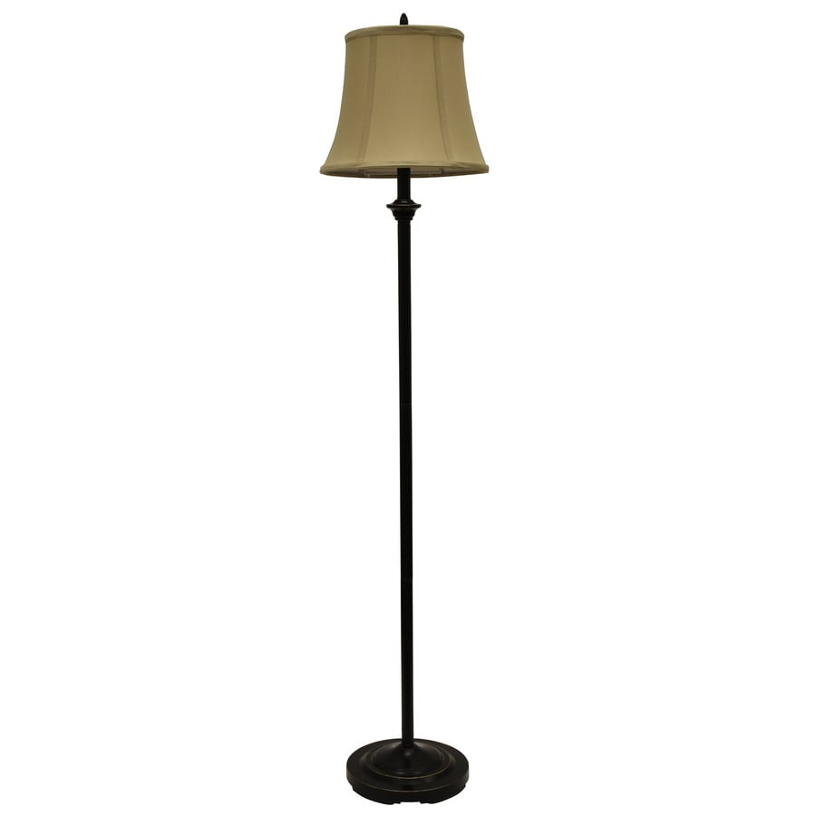 Shop decor therapy 58 in black and gold 3 way floor lamp for Floor lamp with red shade black