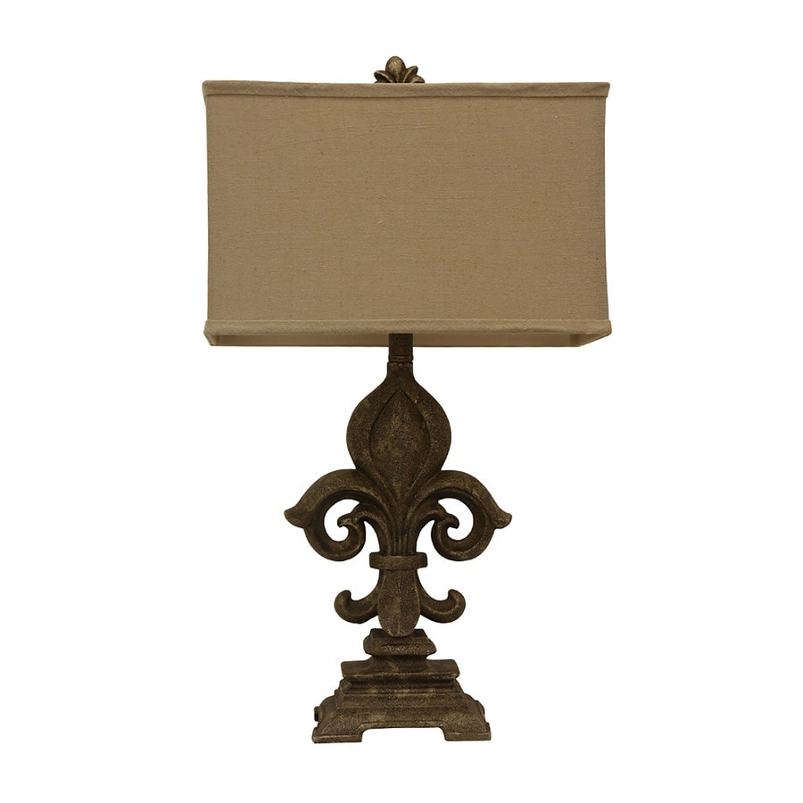 Decor Therapy 29-in Monticello Indoor Table Lamp with Fabric Shade