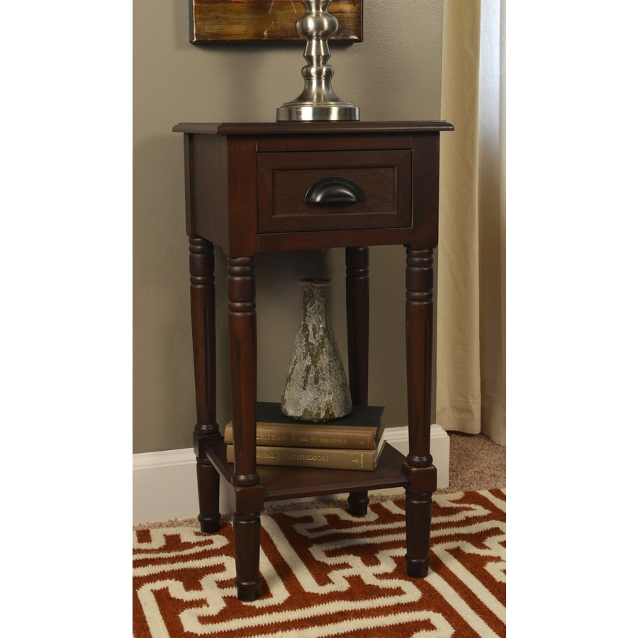 Espresso Composite Casual End Table At Lowes Com