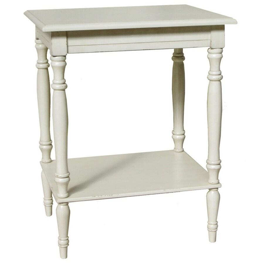 Elaina Antique White Oak Accent Table Set