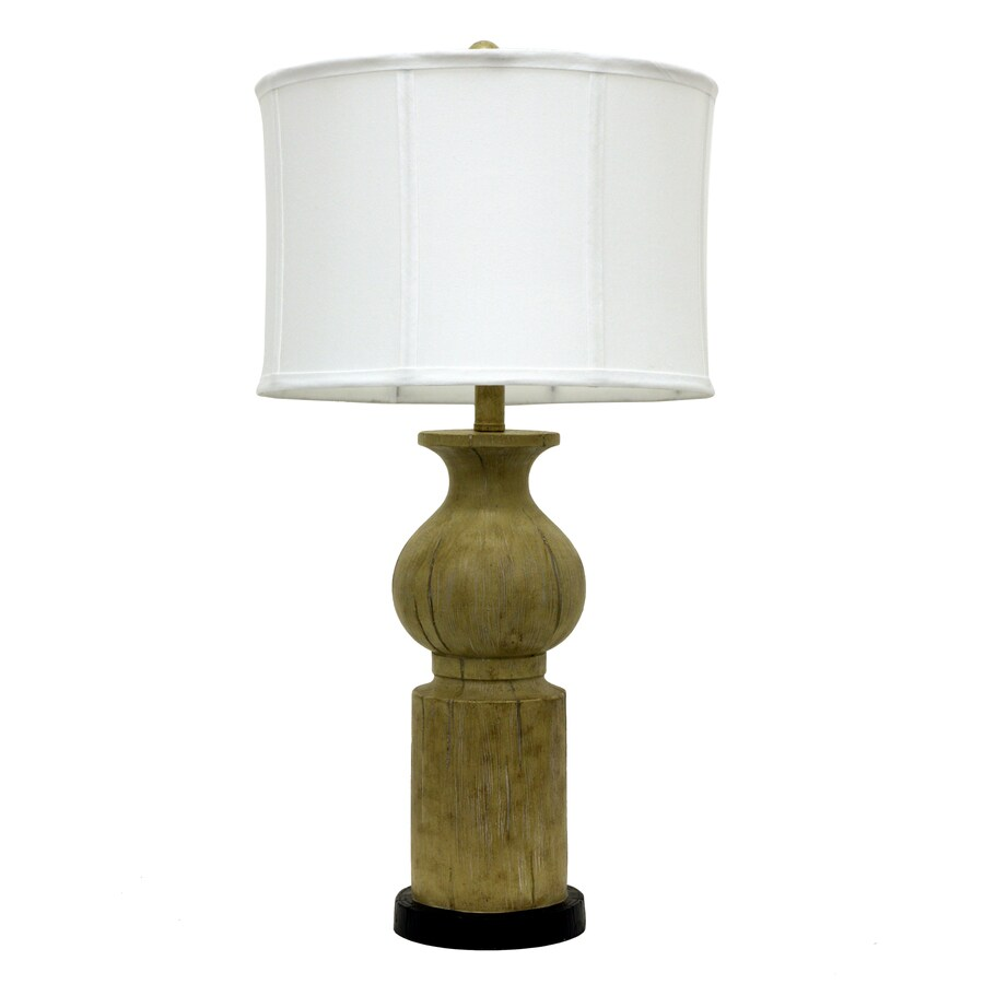 Decor Therapy 29-in 3-Way Switch Cream Indoor Table Lamp with Fabric Shade