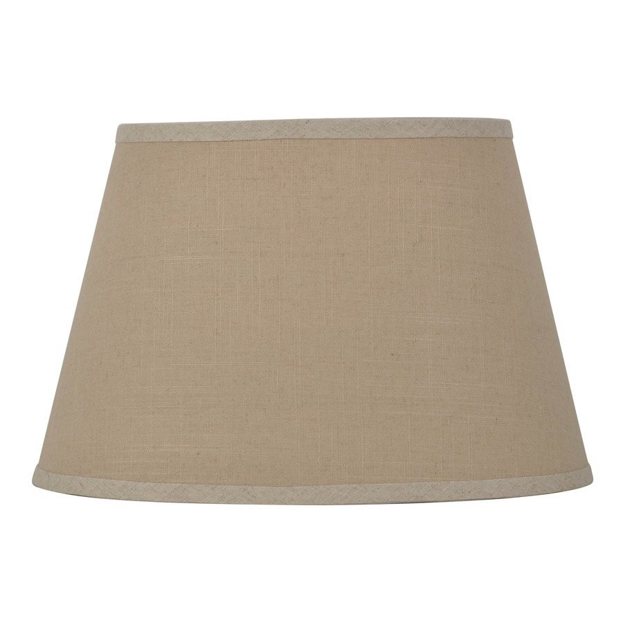 allen + roth 10.5-in x 16-in Tan Fabric Oval Lamp Shade