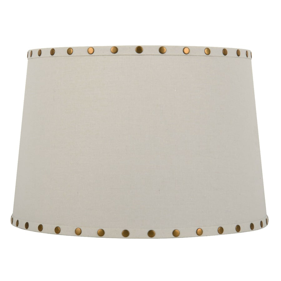 allen + roth 10-in x 15-in White Fabric Drum Lamp Shade