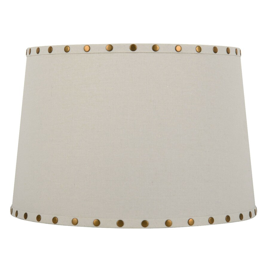 Shop allen roth 10 in x 15 in white fabric drum lamp shade at allen roth 10 in x 15 in white fabric drum lamp shade aloadofball Image collections