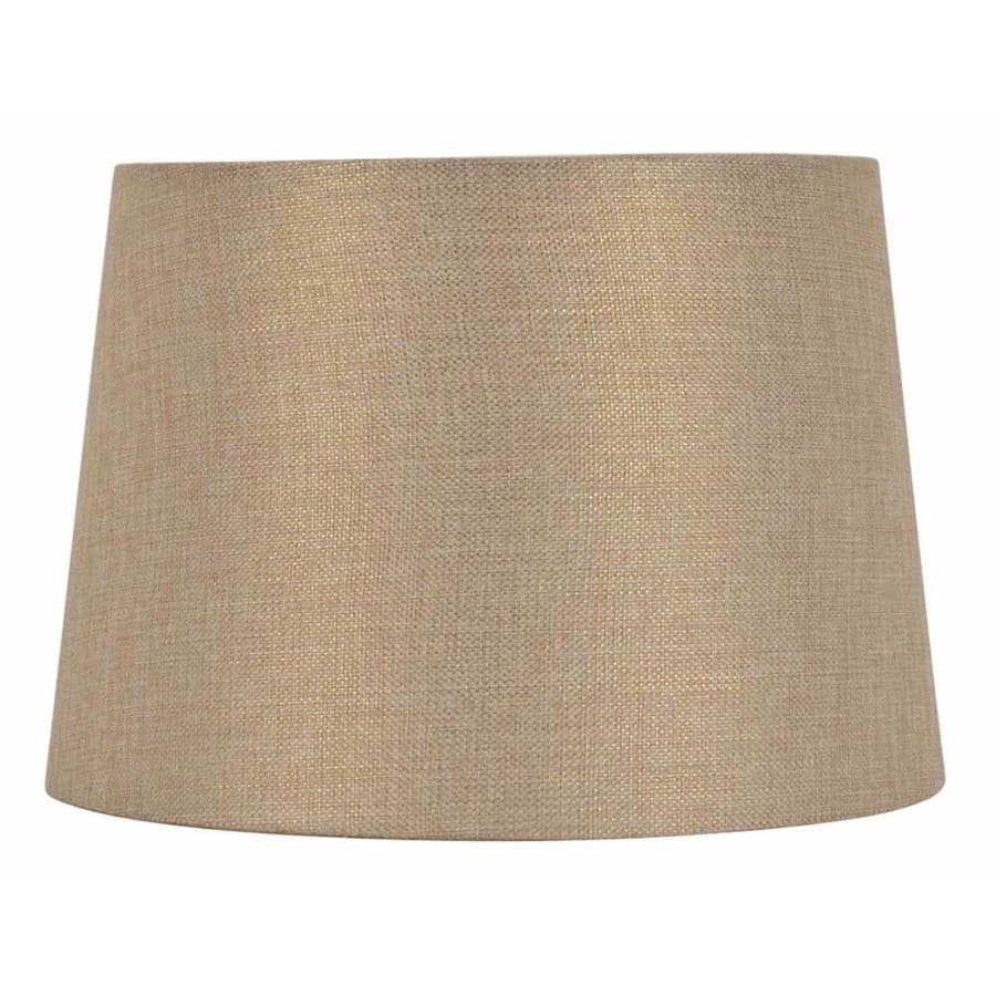 allen + roth 9-in x 13-in Gold Fabric Drum Lamp Shade