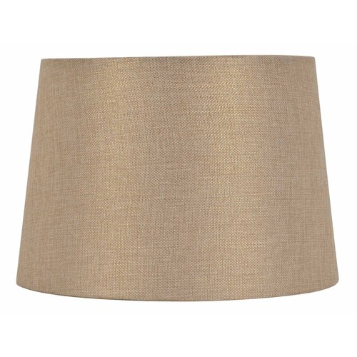 Allen Roth 9 In X 13 In Gold Fabric Drum Lamp Shade In The Lamp Shades Department At Lowes Com