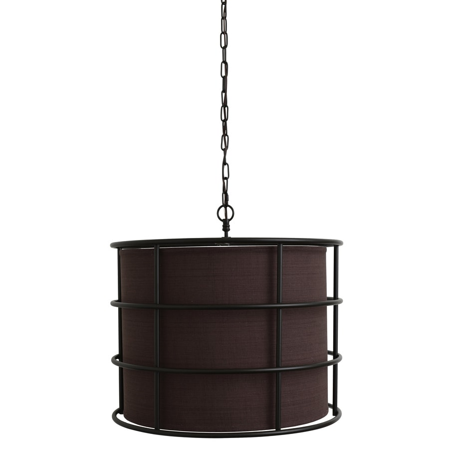 Decor Therapy 24-in Industrial Hardwired Single Cage Pendant
